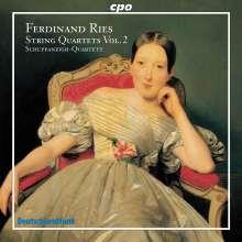 Ferdinand Ries (1784-1838): Streichquartette Vol.2, CD