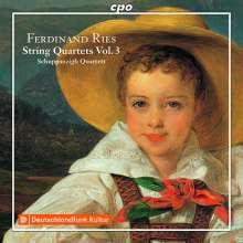 Ferdinand Ries (1784-1838): Streichquartette Vol.3, CD