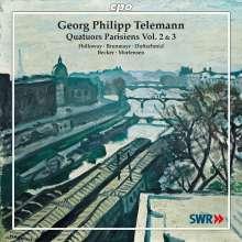 Georg Philipp Telemann (1681-1767): Pariser Quartette Vol.2 & 3, 2 CDs