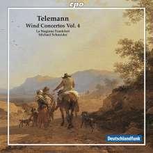 Georg Philipp Telemann (1681-1767): Bläserkonzerte Vol.4, CD