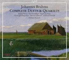 Johannes Brahms (1833-1897): Sämtliche Duette & Quartette, 3 CDs