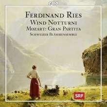 Ferdinand Ries (1784-1838): Bläsernotturni Nr.1 & 2 (WoO.50 & 60), CD