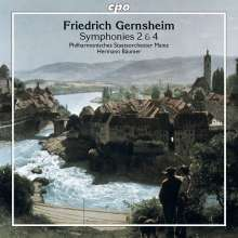 Friedrich Gernsheim (1839-1916): Symphonien Nr.2 Es-Dur op.46 & Nr.4 B-Dur op.62, CD