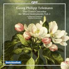 Georg Philipp Telemann (1681-1767): Konzerte für mehrere Instrumente & Orchester Vol.2, CD