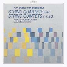 Karl Ditters von Dittersdorf (1739-1799): Streichquartette Nr.2 & 6, CD