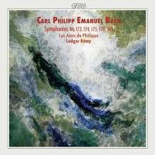 Carl Philipp Emanuel Bach (1714-1788): Symphonien Wq 173-175,178,180, CD
