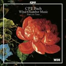 Carl Philipp Emanuel Bach (1714-1788): Kammermusik für Bläser, CD