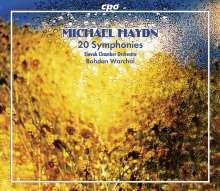 Michael Haydn (1737-1806): Symphonien Nr.1-12,15,16,18,25-28, 6 CDs