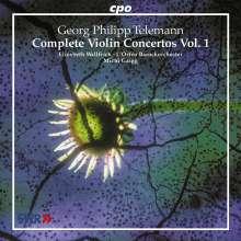 Georg Philipp Telemann (1681-1767): Sämtliche Violinkonzerte Vol.1, CD