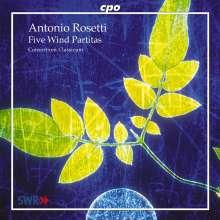 Antonio Rosetti (1750-1792): Partiten für Bläser Nr.8,9,11,14,15, CD