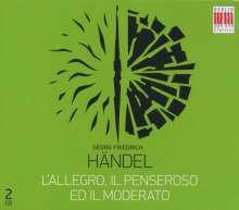 Georg Friedrich Händel (1685-1759): L'Allegro,Il Penseroso ed Il Moderato (in dt.Spr.), 2 CDs