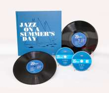 """Filmmusik: Jazz On A Summer's Day (60th Anniversary Deluxe Edition) (Limited Edition), 1 CD, 1 DVD, 2 Singles 10"""" und 1 Buch"""