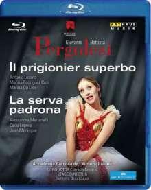Giovanni Battista Pergolesi (1710-1736): Il Prigionier Superbo & La Serva Padrona, Blu-ray Disc