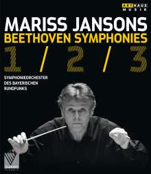Ludwig van Beethoven (1770-1827): Symphonien Nr.1-3, Blu-ray Disc