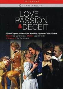 Love, Passion & Deceit - Operngesamtaufnahmen vom Glyndebourne Festival, 3 DVDs