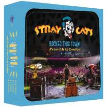 Stray Cats: Rocked This Town: From LA To London (Limited Boxset), 1 CD und 1 Merchandise