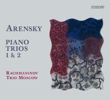 Anton Arensky (1861-1906): Klaviertrios Nr.1 & 2, CD