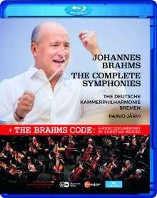 Johannes Brahms (1833-1897): Symphonien Nr.1-4, Blu-ray Disc