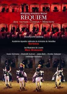 Wolfgang Amadeus Mozart (1756-1791): Requiem KV 626 (in der Felsenreitschule Salzburg), DVD