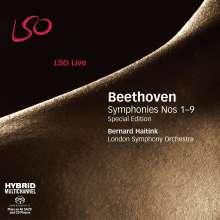 Ludwig van Beethoven (1770-1827): Symphonien Nr.1-9, 6 Super Audio CDs