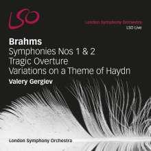 Johannes Brahms (1833-1897): Symphonien Nr.1 & 2, 2 Super Audio CDs