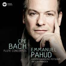 Carl Philipp Emanuel Bach (1714-1788): Flötenkonzerte Wq.22,166,169, CD