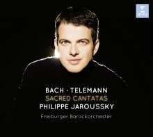 Philippe Jaroussky - Sacred Cantatas (Limitierte Deluxe-Ausgabe mit DVD), 1 CD und 1 DVD