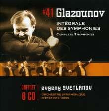 Alexander Glasunow (1865-1936): Symphonien Nr.1-8, 6 CDs