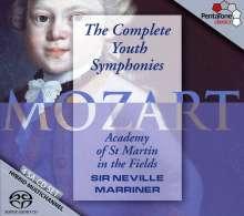 Wolfgang Amadeus Mozart (1756-1791): Frühe Symphonien, 4 Super Audio CDs