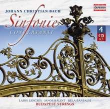 Johann Christian Bach (1735-1782): Konzertante Sinfonien, 4 CDs