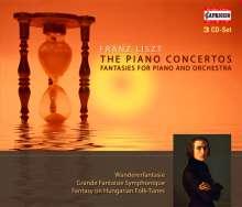 Franz Liszt (1811-1886): Klavierkonzerte Nr.1 & 2, 3 CDs
