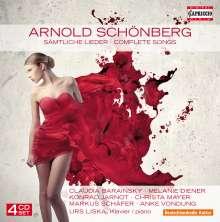 Arnold Schönberg (1874-1951): Sämtliche Lieder, 4 CDs