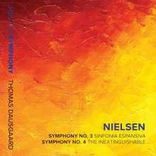 Carl Nielsen (1865-1931): Symphonien Nr.3 & 4, CD