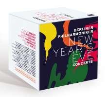 Die Silvesterkonzerte der Berliner Philharmoniker (ausgewählte Konzerte aus den Jahren 1977-2019), 20 Blu-ray Discs