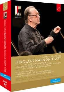 """Nikolaus Harnoncourt - """"Ouverture spirituelle """" - Mitschnitte von den Salzburger Festspielen, 2 DVDs"""