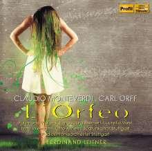 Claudio Monteverdi (1567-1643): L'Orfeo (Deutsche Version von Carl Orff), CD