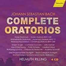 Johann Sebastian Bach (1685-1750): Helmuth Rilling - Complete Bach Oratorios, 4 CDs