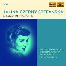 Halina Czerny-Stefanksa - In Love with Chopin, 4 CDs