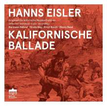 Hanns Eisler (1898-1962): Kalifornische Ballade, CD