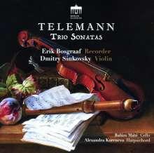 Georg Philipp Telemann (1681-1767): Triosonaten mit Blockflöte, CD