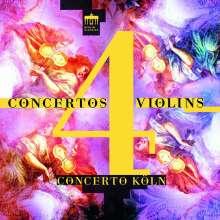 Concerto Köln - Concertos for 4 Violins, CD