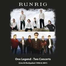 """Runrig: One Legend - Two Concerts (Live At Rockpalast 1996 & 2001) (Limited Handnumbered Boxset + T-Shirt Gr. XL), 4 CDs, 2 DVDs, 2 Singles 7"""" und 1 T-Shirt"""
