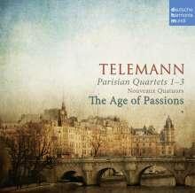 Georg Philipp Telemann (1681-1767): Pariser Quartette Nr.1-3 (1738), CD