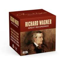 Richard Wagner (1813-1883): Richard Wagner - Great Recordings, 40 CDs