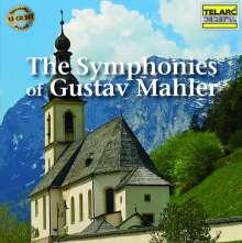 Gustav Mahler (1860-1911): Symphonien Nr.1-9, 13 CDs