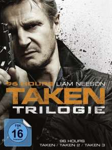 96 Hours: Taken 1-3, 3 DVDs