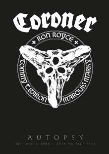 Coroner: Autopsy: The Years 1985 - 2014 In Pictures, 3 DVDs und 1 CD