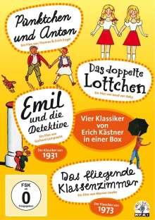 Erich Kästner Box - Die vier großen Klassiker, 4 DVDs