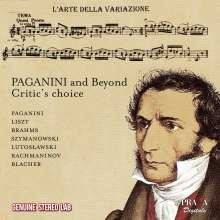 Paganini and Beyond, CD