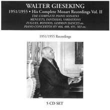 Walter Gieseking - His Complete Mozart Recordings Vol.2, 5 CDs